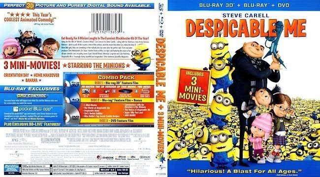 dvd cover Despicable Me 3D