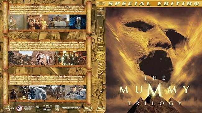 dvd cover The Mummy Trilogy