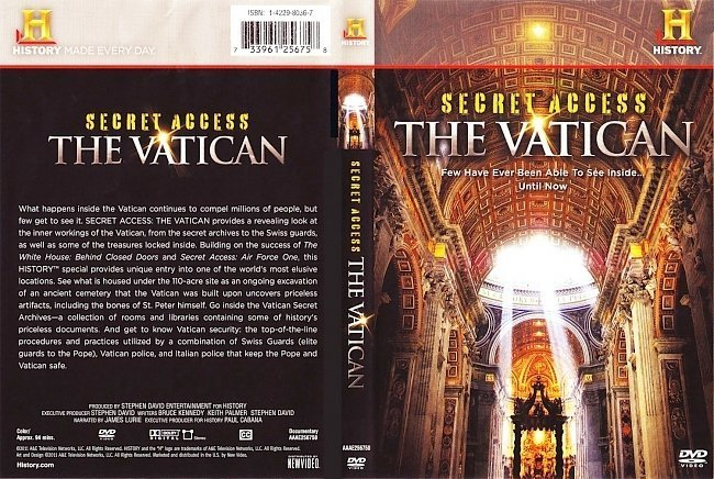 dvd cover History Channel Secrets of The Vatican