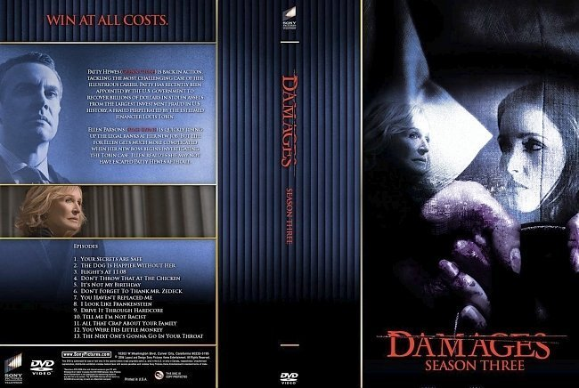 dvd cover Damages Season 3
