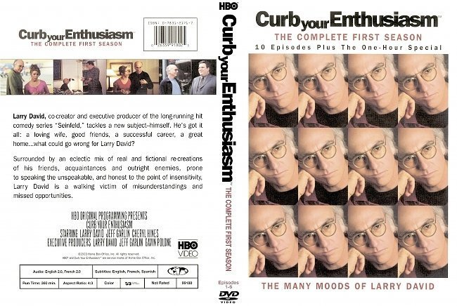 dvd cover Curb your Enthusiasm: Season 1-2-3-4-5 DVD Front Covers