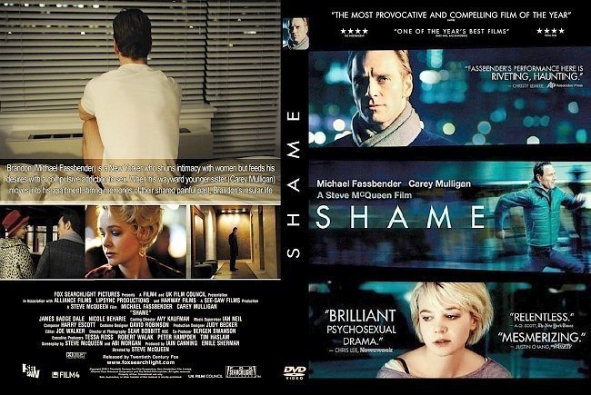 dvd cover Shame (2011) Front Covers