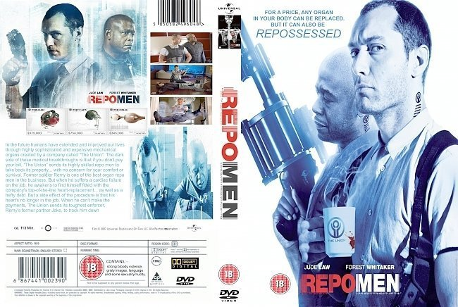 dvd cover Repo Men (2010) R2