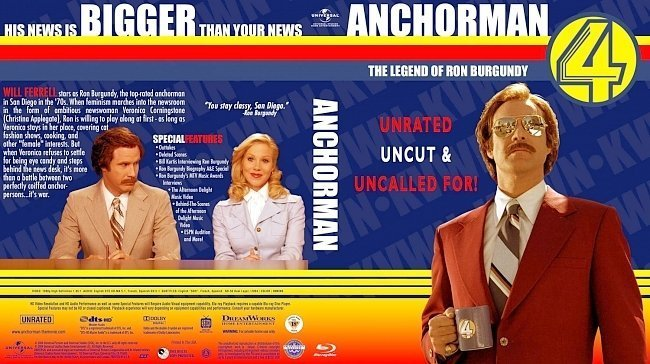 dvd cover Anchorman The Legend of Ron Burgundy