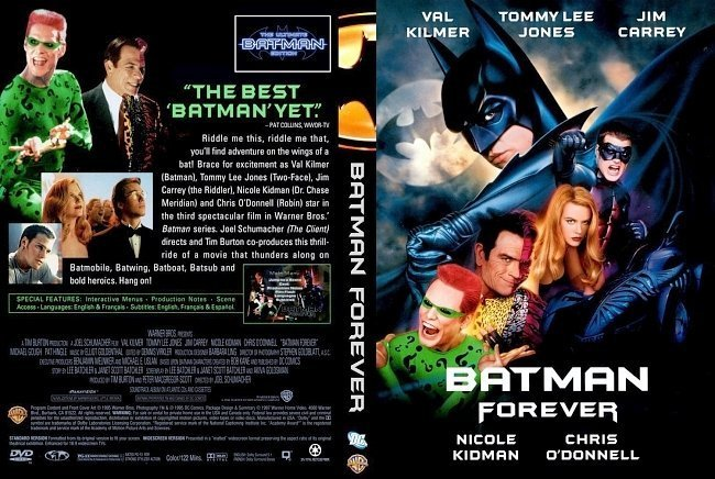dvd cover Batman Forever