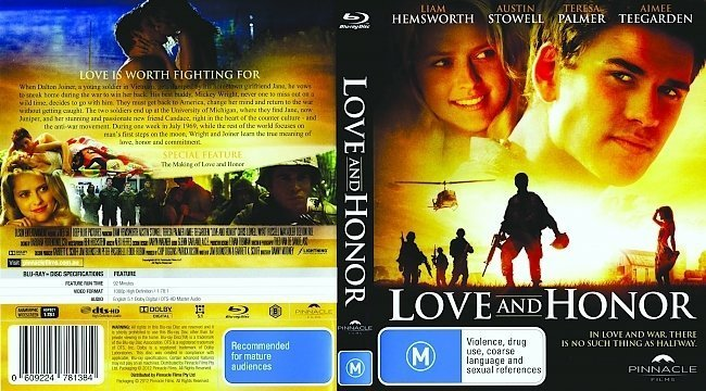 dvd cover Love and Honor R4 - Blu-Ray