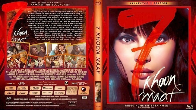 dvd cover 7 Khoon Maaf