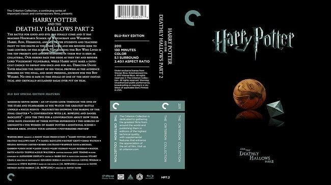 dvd cover Harry Potter And The Deathly Hallows Part 2 The Criterion Collection