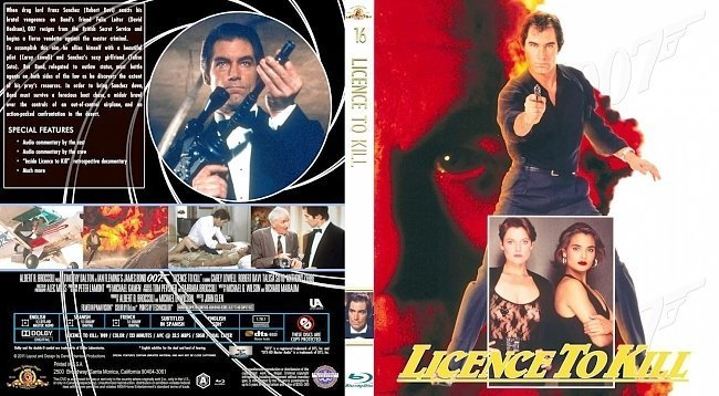 dvd cover Licence to Kill cover