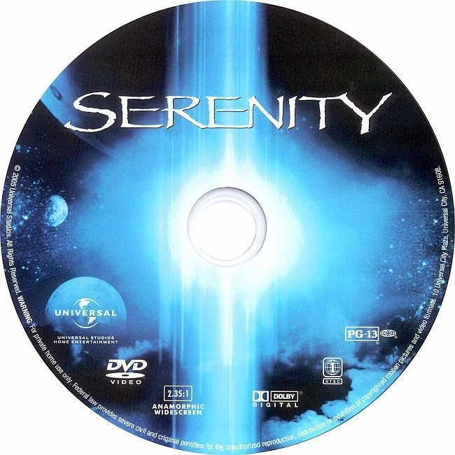 dvd cover Serenity (2005) R1