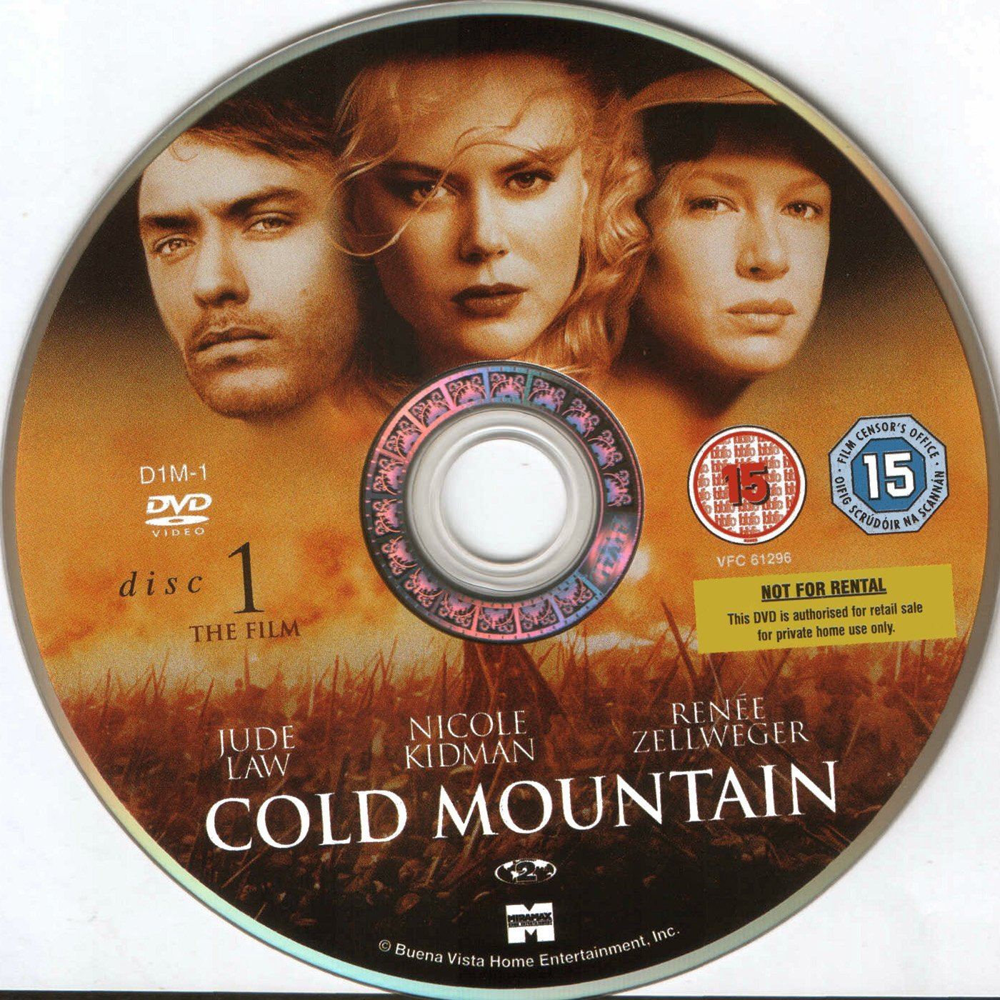 Cold Mountain 2003 Ws Se R2 Dvd Covers And Labels
