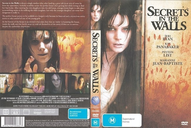 dvd cover Secrets In The Walls (2010) FS R4