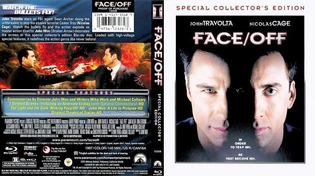 dvd cover Face Off Blu ray Scan