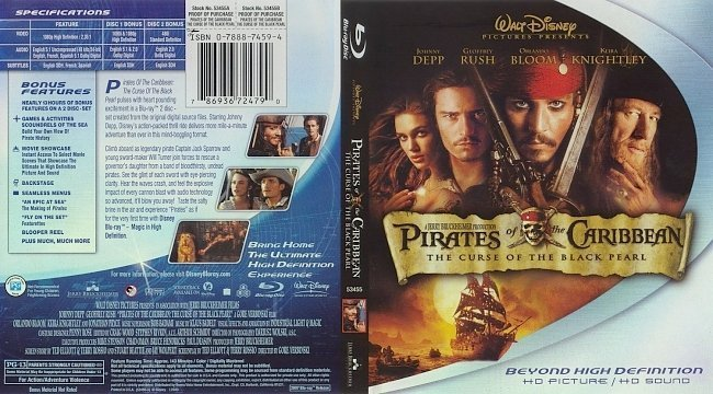 dvd cover 9390Pirates ot Caribbean 1