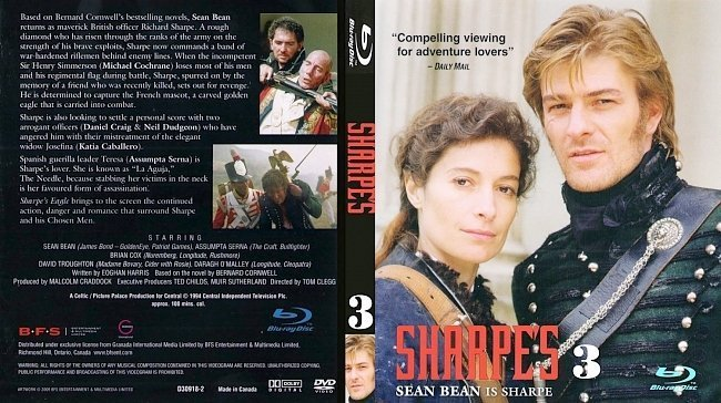dvd cover Sharpes Battle Vol 3 Bluray