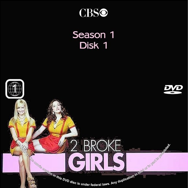 dvd cover 2 Broke Girls: Season 1 (2011) R1 CUSTOM