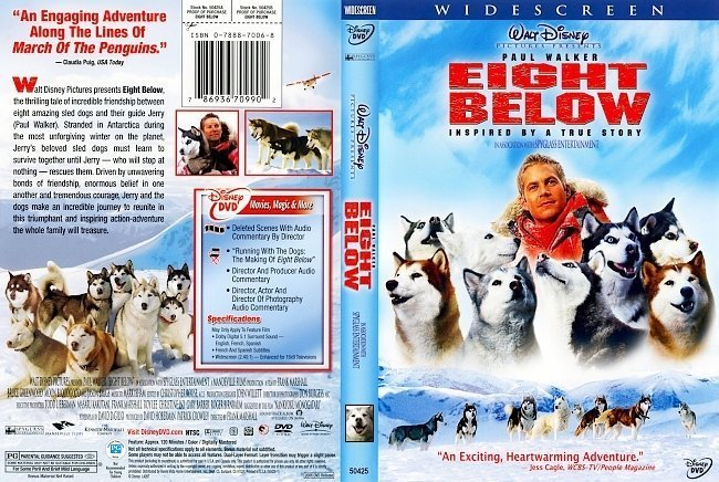dvd cover Eight Below (2006) WS R1