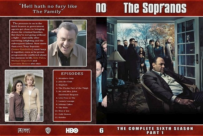dvd cover The Sopranos Collection Season 06 PI