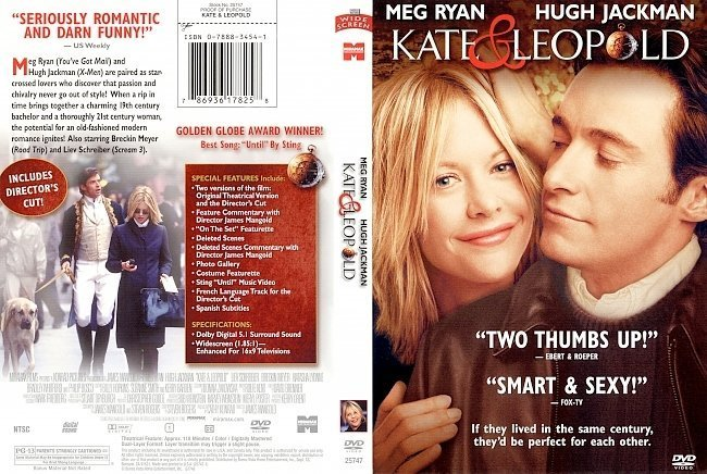 dvd cover Kate & Leopold (2001) R1