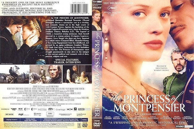 dvd cover The Princess Of Montpensier (2010) R1