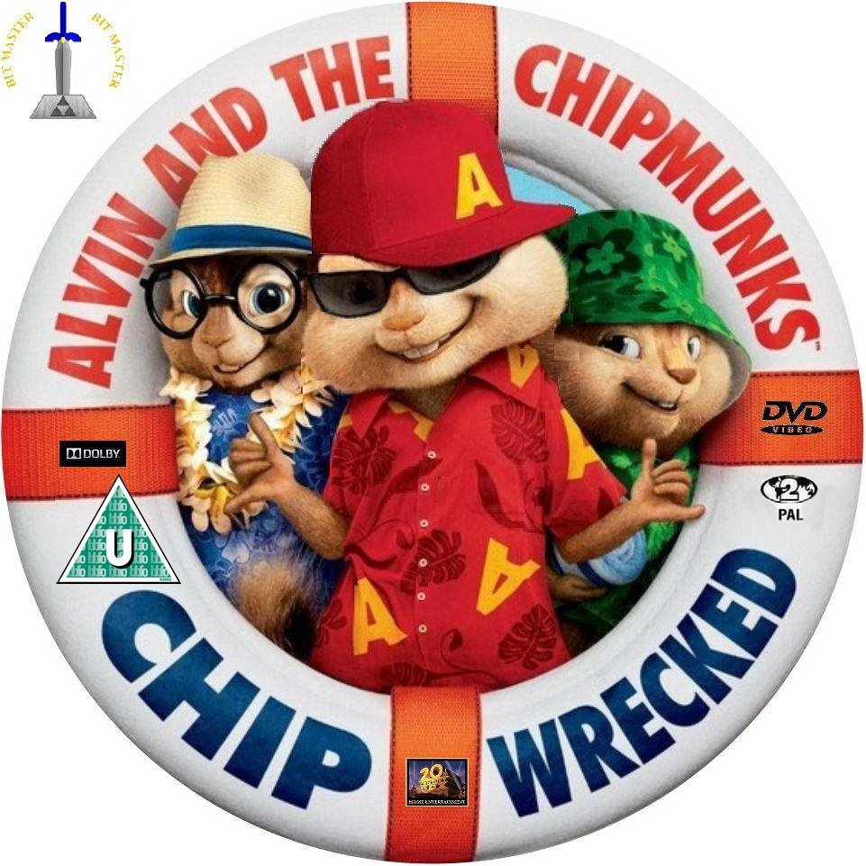 alvin and the chipmunks 2011 3 chipwrecked dvd covers and labels