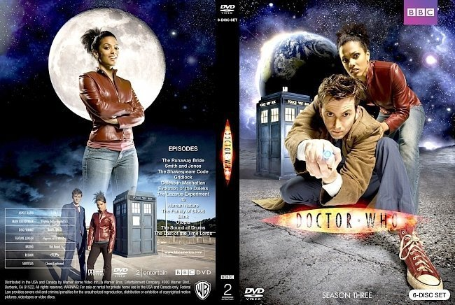 dvd cover Doctor Who Season Three