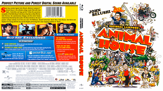 dvd cover Animal House