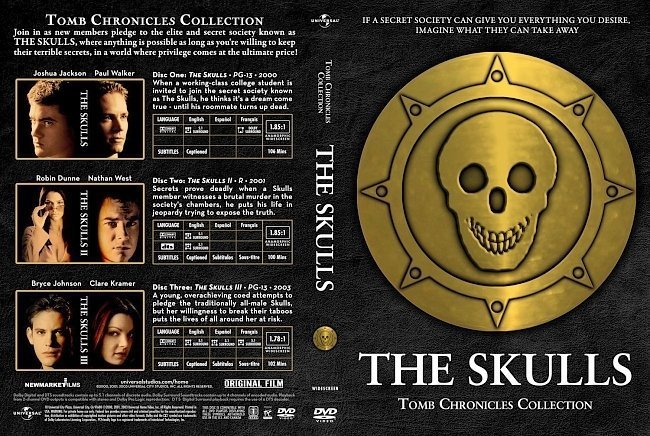 dvd cover The Skulls Trilogy