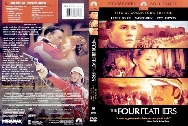 dvd cover The Four Feathers (2002) CE WS R1