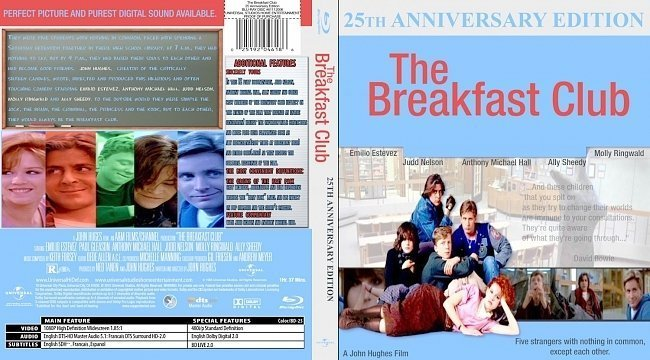 dvd cover The Breakfast Club