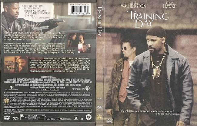 dvd cover Training Day (2001) WS R1