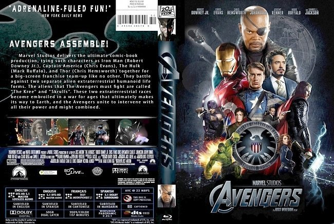 dvd cover The Avengers