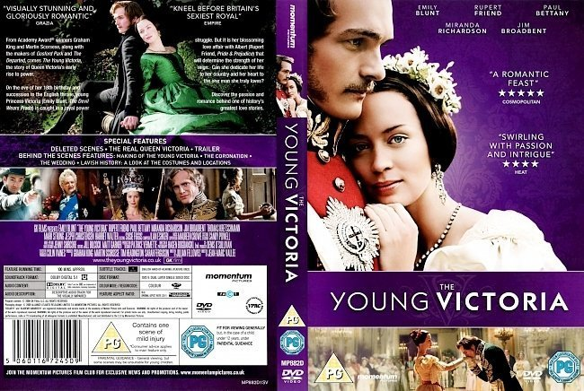 dvd cover The Young Victoria (2009) R0 & R2