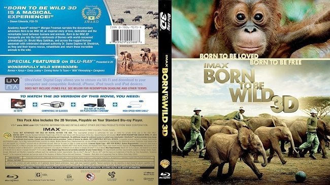 dvd cover IMAX Born To Be Wild 3D