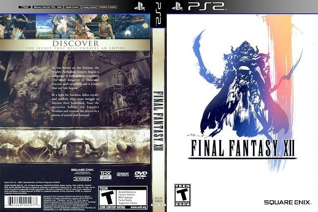 dvd cover Final Fantasy XII