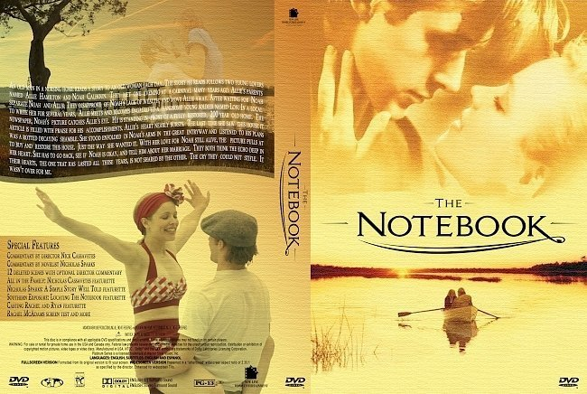 dvd cover The Notebook (2004) R1 & R4