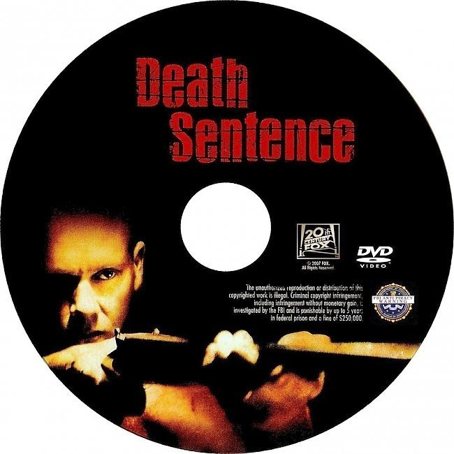 dvd cover Death Sentence (2007) Unrated WS R1