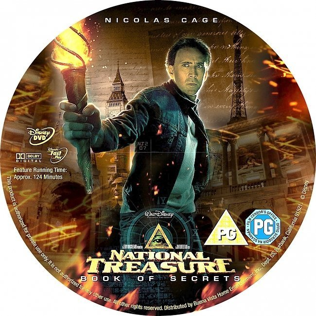 dvd cover National Treasure 2: Book Of Secrets (2007) R2