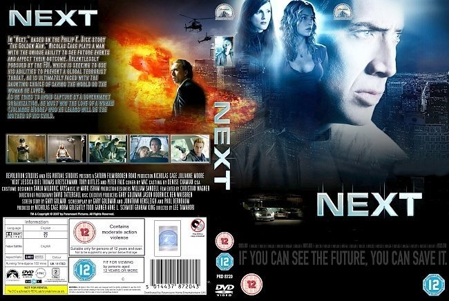 dvd cover Next (2007) R2