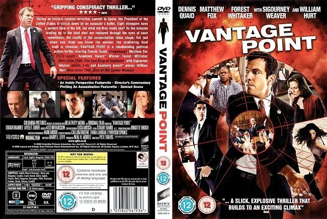 dvd cover Vantage Point (2008) R2