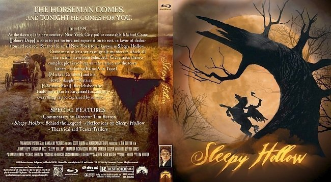 dvd cover Sleepy Hollow