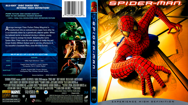 dvd cover Spider Man