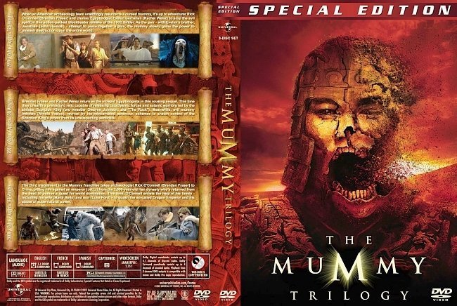 dvd cover The Mummy Trilogy version 2