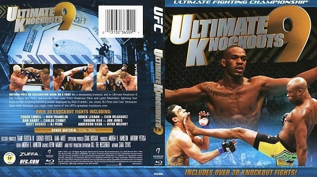 dvd cover UFC Ultimate Knockouts 9