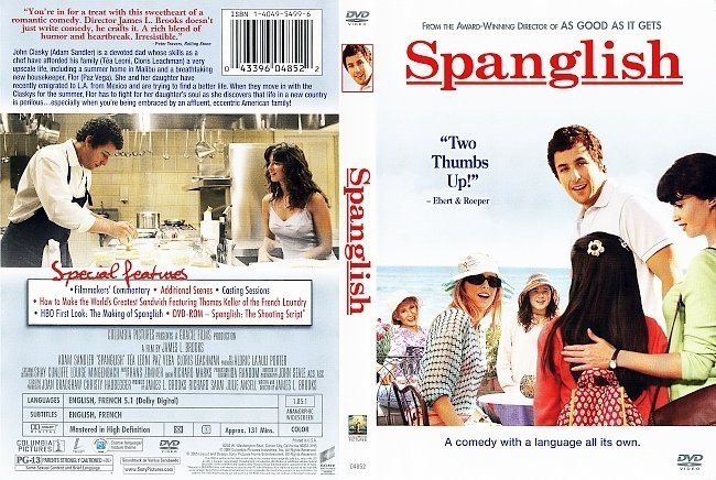 dvd cover Spanglish (2004) R1