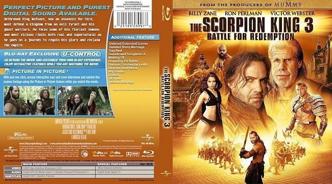 dvd cover scorpion king 3