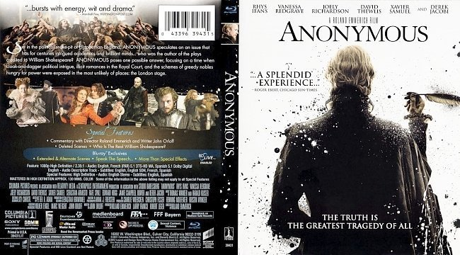 dvd cover Anonymous