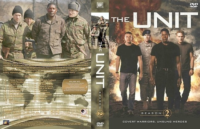 dvd cover The Unit Season 2