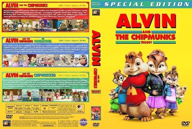 dvd cover Alvin and the Chipmunks Trilogy