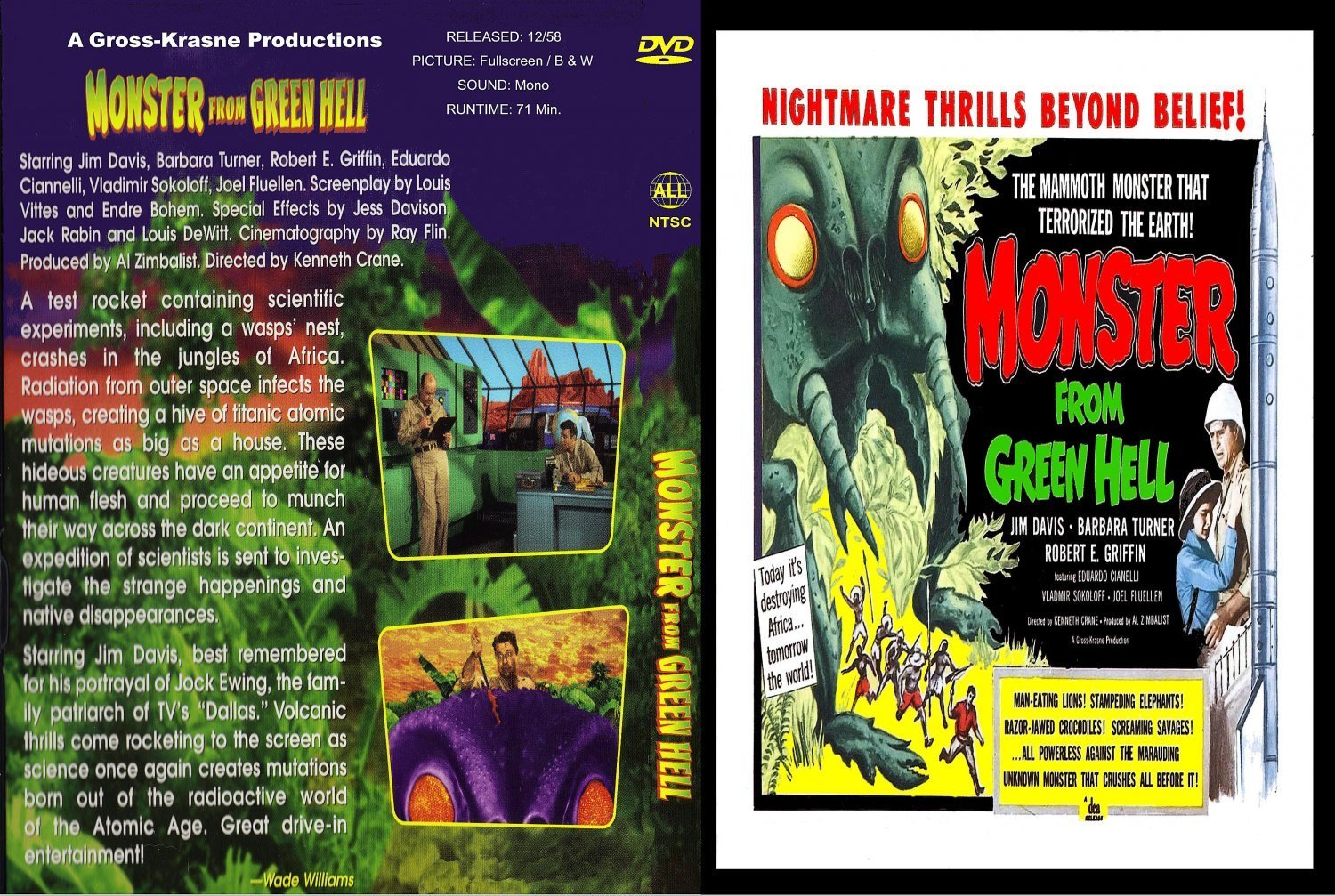 Monster From Green Hell | Dvd Covers and Labels